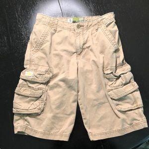 Boy's Lee khaki cargo shorts sz 14 w/adj waist